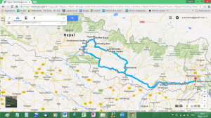 map of our itinerary (trip 1)